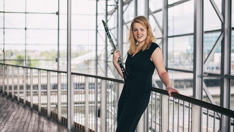 Klarinettiste Annemiek de Bruin (foto: Emelie Schäfer)