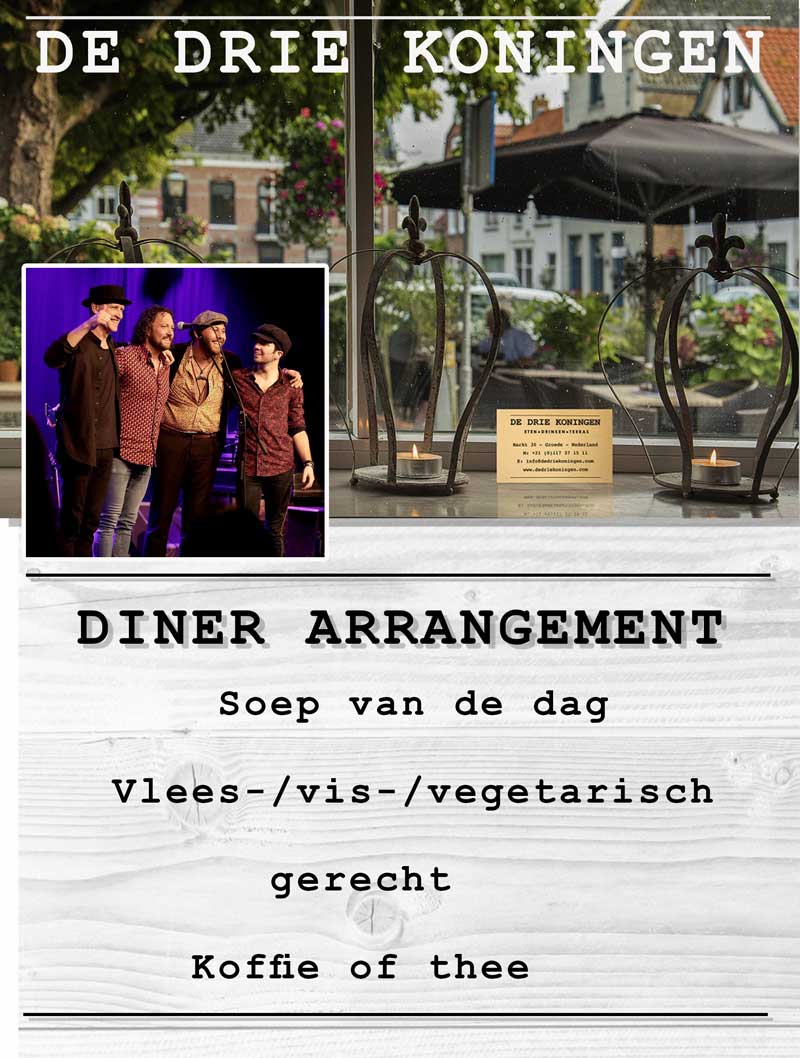Diner-Arrangement-King-of-the-World-Groede